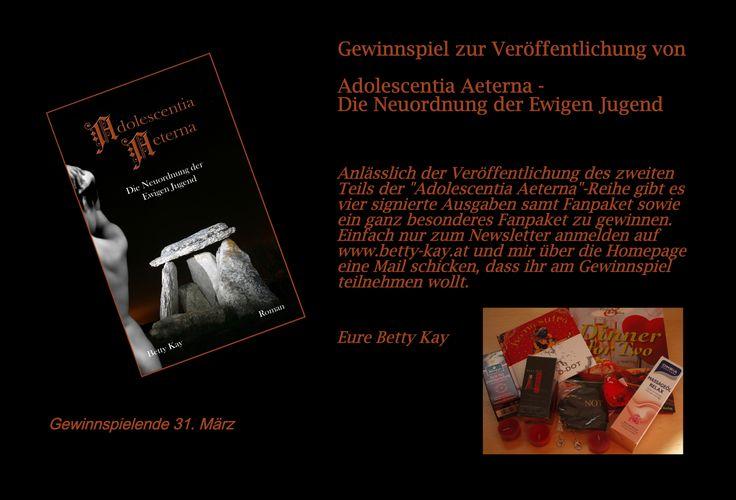 """#Gewinnspiel zum #Buch """"Adolescentia Aeterna - Die Neuordnung der Ewigen Jugend"""", zweiter Teil der #Mystery #Romance #Erotikromanreihe"""