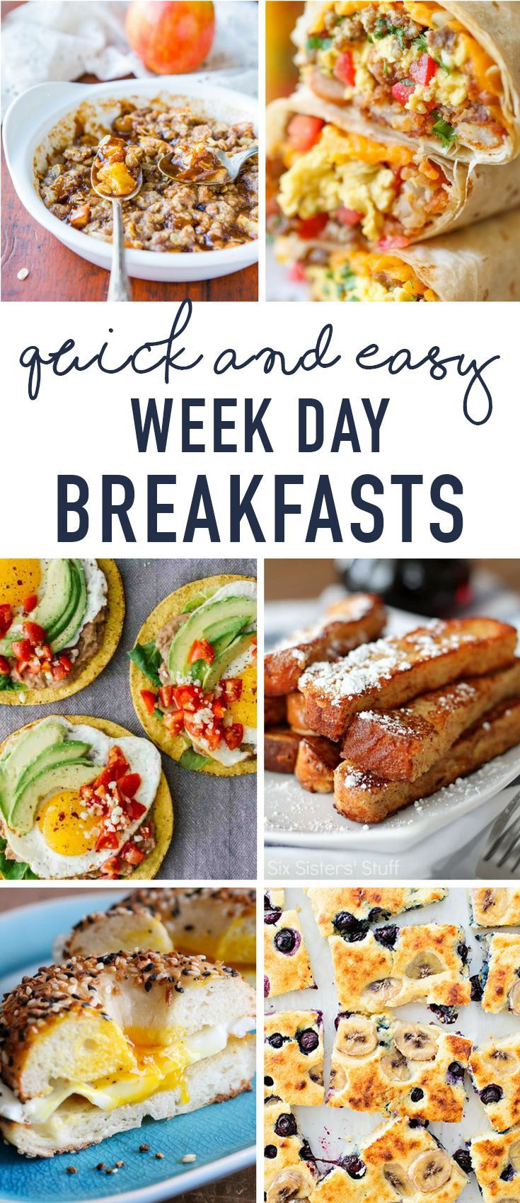 Quick And Easy Breakfast Ideas Great For Weekday Mornings In 2020 Breakfast Recipes Easy Quick And Easy Breakfast Easy Breakfast