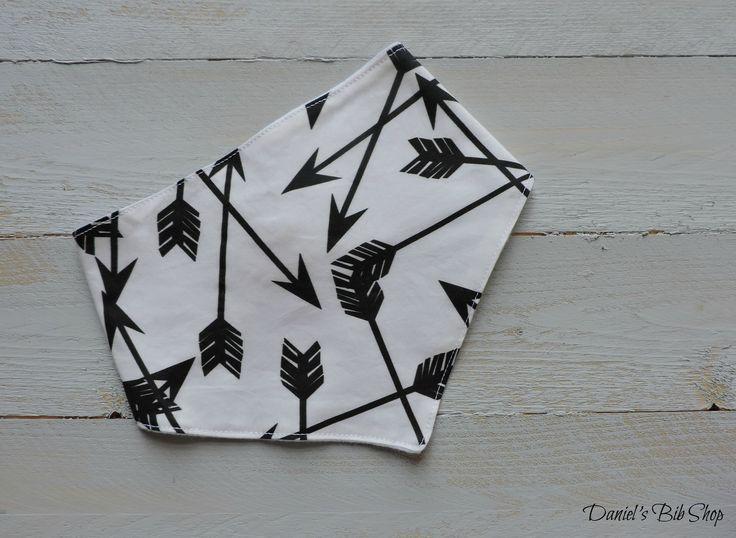 Handmade Monochrome white & Black Arrows Bibdana