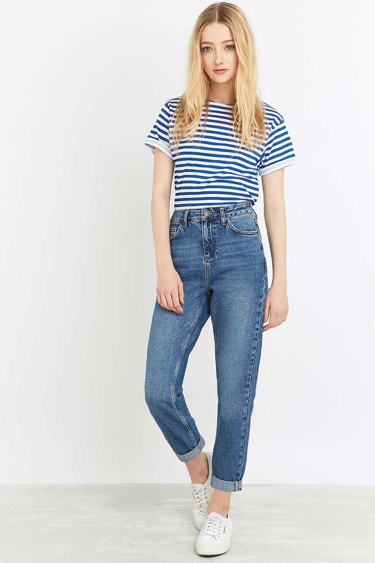 hmm wonder what this would look like in real life... BDG Vintage Dark Blue Mom Jeans