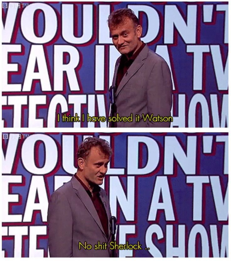 Lines you wouldn't hear in a TV detective show | Hugh Dennis | Mock the Week
