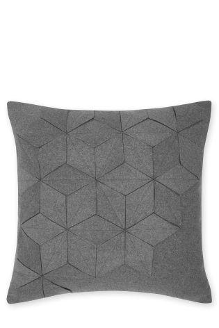 Buy Grey Felt Geometric Cushion online today at Next: Israel