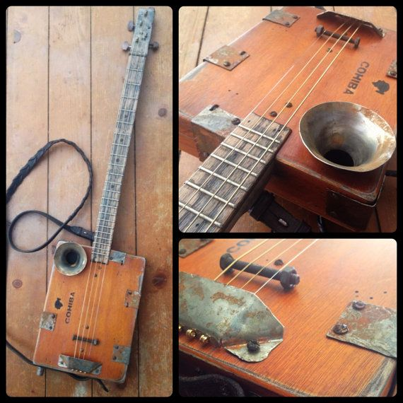 The Cowboy cigar box guitar is just as at home on the range, as it will be in your hands. This is a true players cigar box guitar.