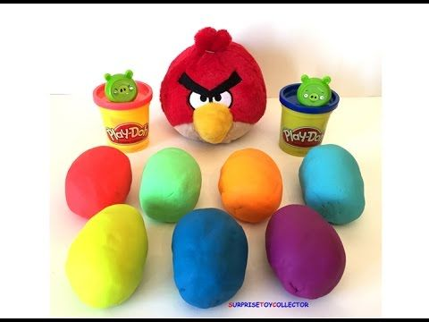 Spielen Sie Doh Angry Birds Surprise Fun Unboxing, Surprise Eggs Opening Piggie …   – Play Doh Angry Birds Surprise Fun Unboxing, Surprise Eggs Opening Piggies Red Friends Movie Toys