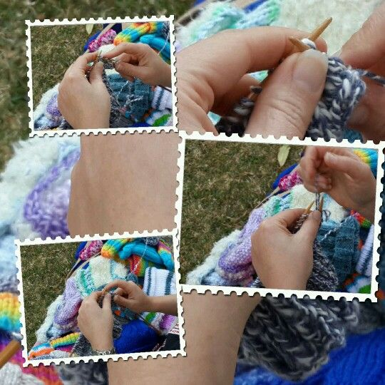 Knitting happily