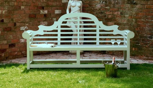 1000 Images About Painted Garden Benches On Pinterest