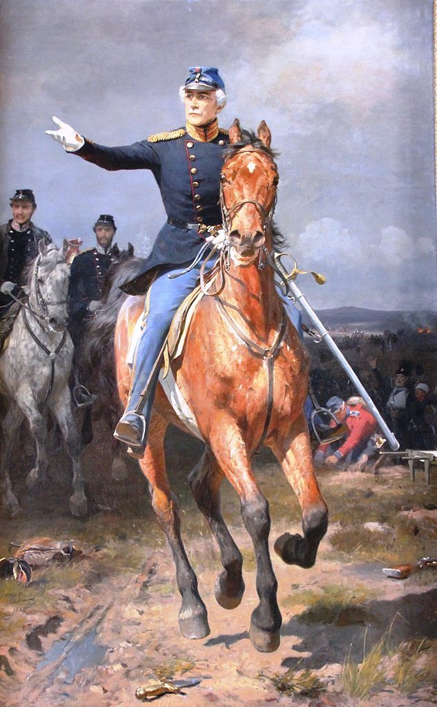Danish General Krogh at the Battle of Isted