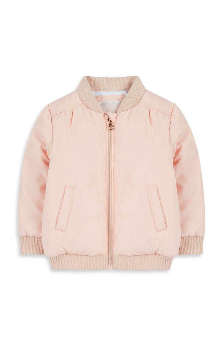 Primark - Baby Girl Pale Pink Bomber Jacket