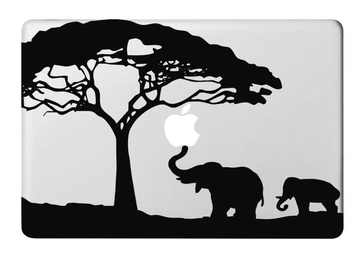 Elephant DIY Laptop Skin Vinyl for Apple Macbook 11 13 15 Air Pro Sticker Mac Notebook ...