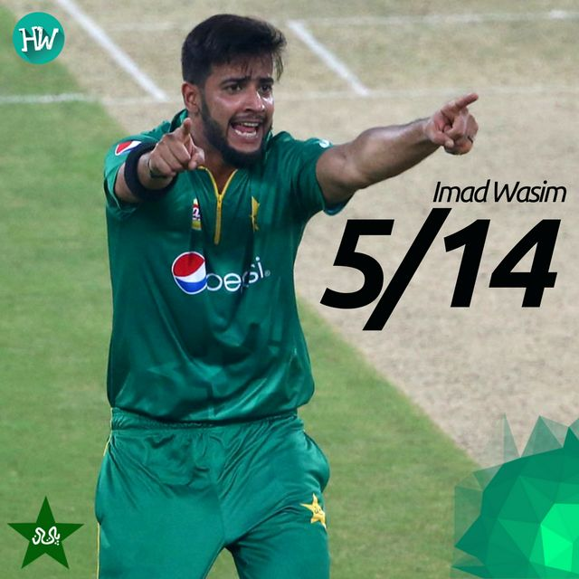 The Man of the Match was Imad Wasim for his brilliant bowling! Seriously though, how good was he?! #PAKvWI #PAK #WI #cricket