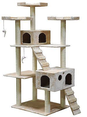 Cheap Cat Trees And Condos For Large Cats Towers Climbing Scratcher Lounge New