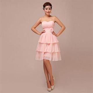 Buy 'Lotus Bride – Strapless Rosette Tiered Cocktail Dress' with Free Shipping at YesStyle.com.au. Browse and shop for thousands of Asian fashion items from China and more!