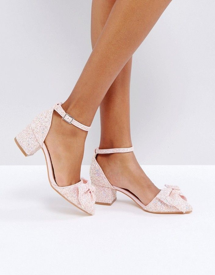 Truffle Collection Truffle Bow Kitten heel Shoe