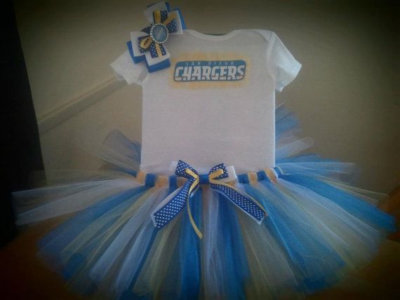 San Diego Chargers inspired tutu outfit by killerkrafts on Etsy, $35.00 - marley neeeeeds this!