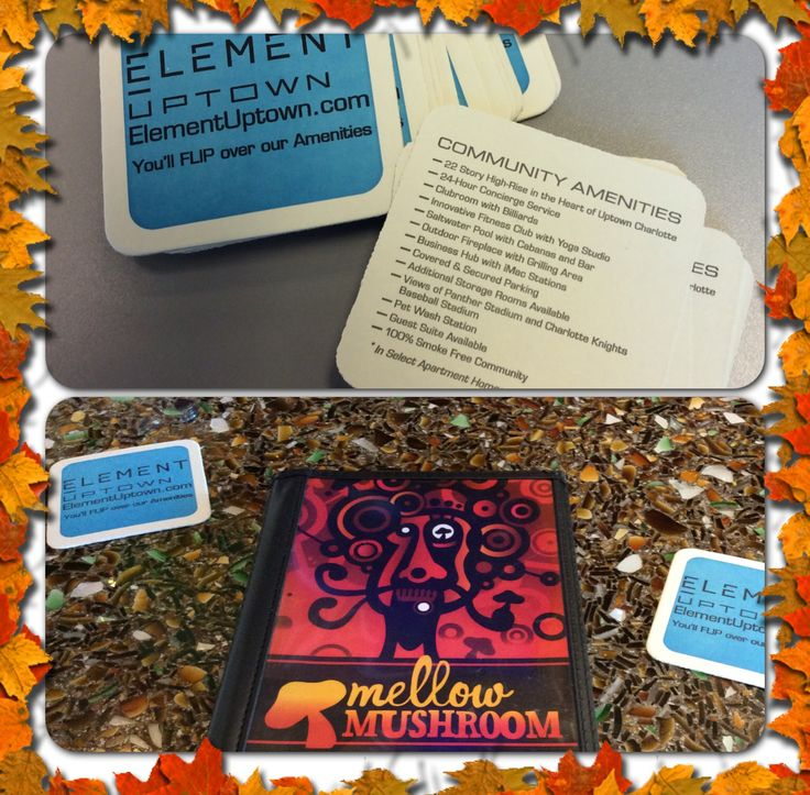 Stop by Mellow Mushroom Charlotte - Uptown and check out #ElementUptown's new coasters! #charlotte #uptown #pizza