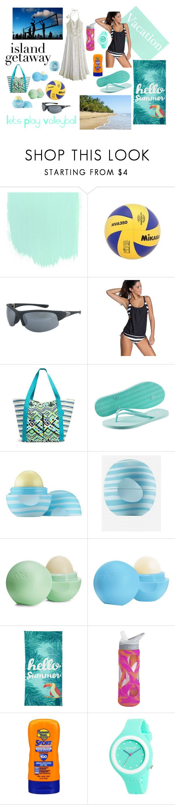 """""""Beach Volleyball"""" by designed-by-me ❤ liked on Polyvore featuring Mikasa, Vera Bradley, Puma, Eos, Outdoor Oasis, CamelBak, Banana Boat, Rip Curl, Calypso St. Barth and Summer"""