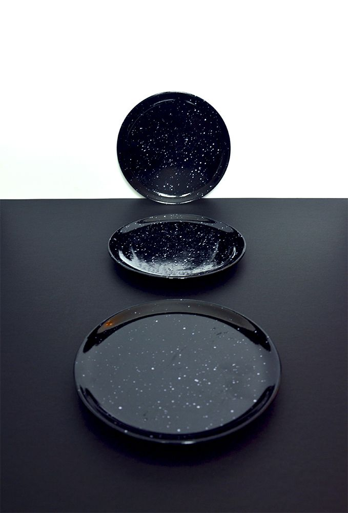 Beautiful dark vintage ceramic plates