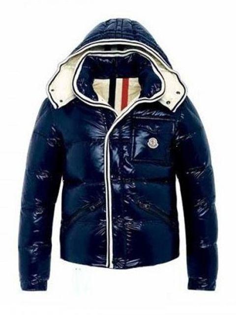 43aefaf5b Moncler Branson Classic Mens Down Jackets Dark Blue Short