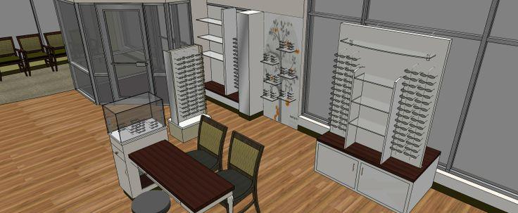 Kids Area of Aurora Optometry 3D Rendering by Barbara Wright Design