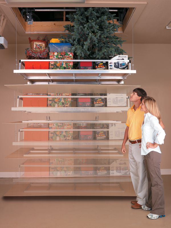Easily Lower And Lift Storage Items To From Your Attic With Our Motorized System The Aladdin