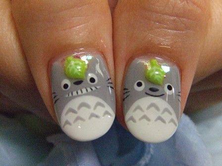 Totoro Nail Art   MiCHi MALL ahhhhhjjhdghfugfhgfhghfhfhgbnjjjfdsfg!!!!!!!!!!!    followpics.co
