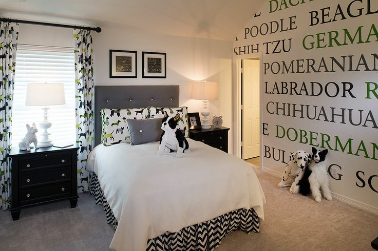 Highland homes long meadow farms 80s bedroom for Dog themed bedroom ideas