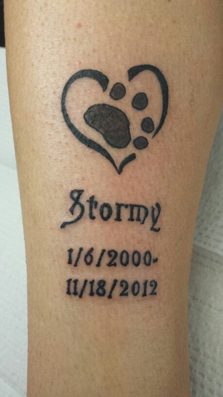 Paw print tattoo in memory of my baby Stormy :) | Tattoos ...