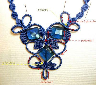 il macramè di sabrina: Mini tutorial per collana blu
