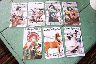 SweetLaraine: New Beautiful Bohemian Gypsy girls handmade tarot cards are for sale in my etsy