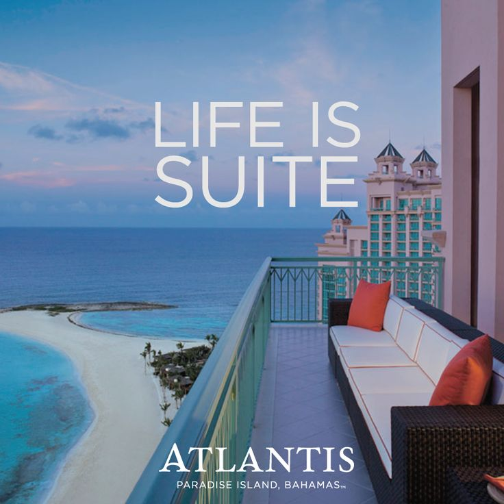 Live the suite life at Atlantis!