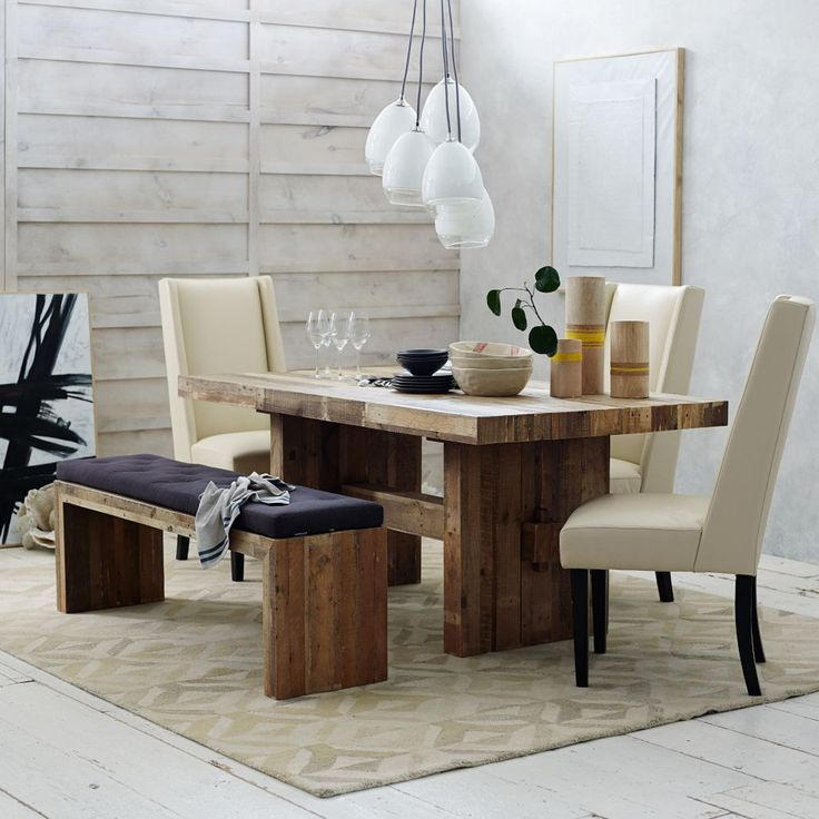 West Elm Rustic Kitchen Table: We Both Love A Rustic, Sturdy Looking Dining Table. This