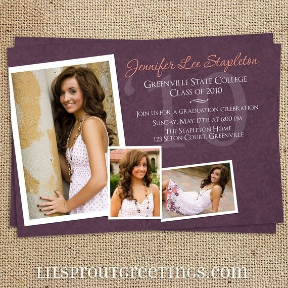 103 best Photography Graduation Announcement Templates images on - graduation announcement template