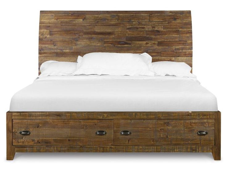 B2375 51 Complete Queen Island Bed With Storage Footboard