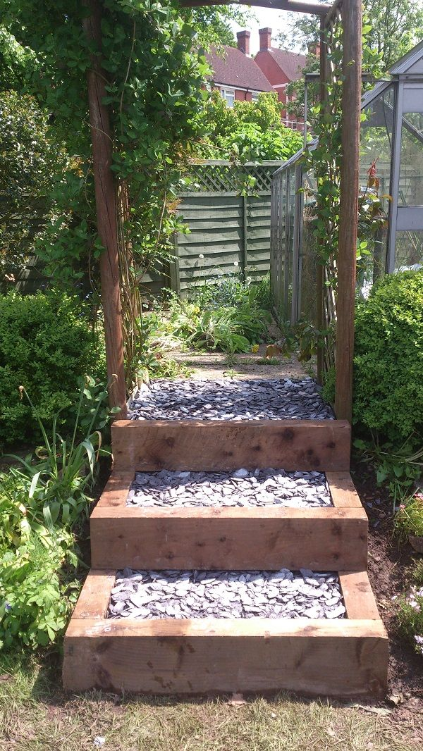 10 best images about outdoor steps on pinterest wooden for Outdoor landscape plans