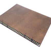 caderno capa dura com concertina impressa encadernação artesanal copta costurado com linha de algodão tingida artesanalmente 90 folhas (180 páginas) - papel pautado - creme 80 g/m² 15x21cm - livro n.º 825 *prazo para envio: 4 dias úteis