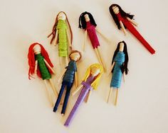 Toothpick Doll Tutorial... What a fun craft for the kids! #kids #crafts