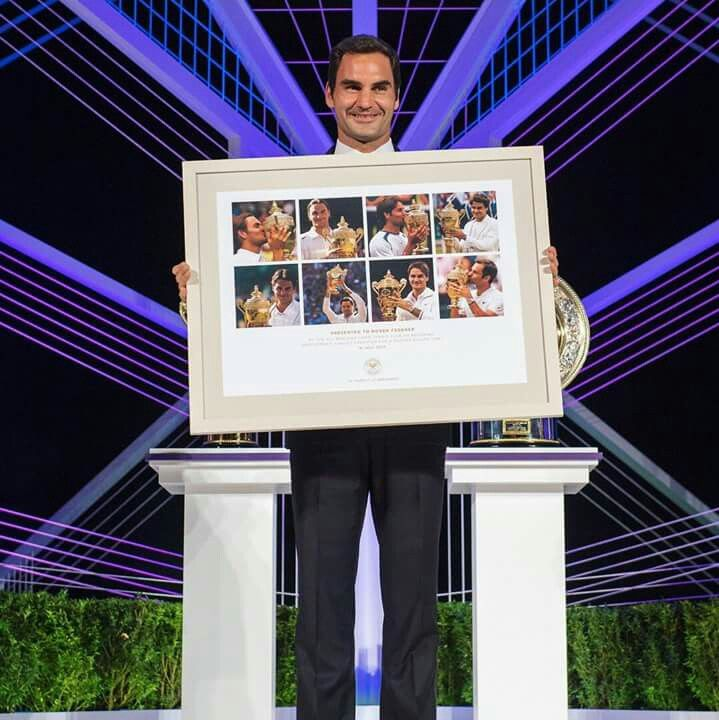 Xmas present from Wimbledon  to Roger