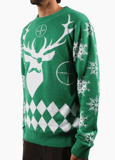 LA Police Gear Green Disguise Christmas Sweater | Fashion (Christmas