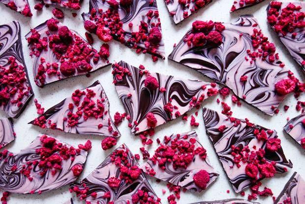 Choco Bark with Rasberries