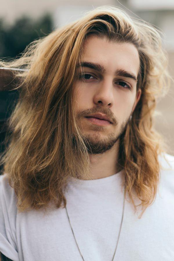 Long Blonde Messy Surfer Hair In 2020 Long Hair Styles Men Surfer Hair Mens Hairstyles