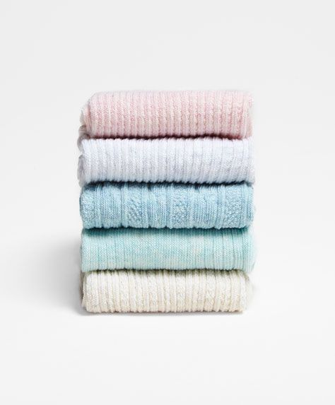 Pack of textured socks - OYSHO
