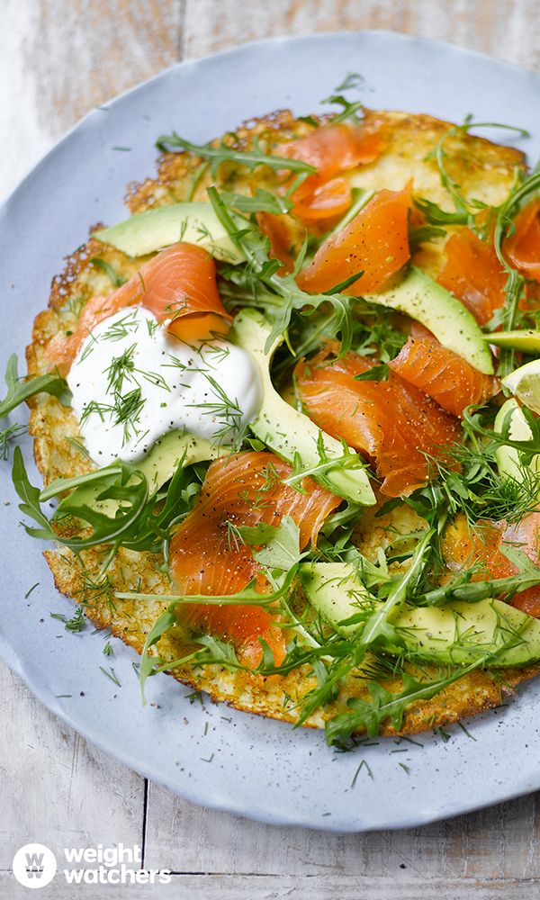 Pancakes with Smoked Salmon, Avocado and Rocket.  Prefer savoury pancakes? Healthy, filling and full of flavor, these pancakes are prefect for dinner! Tuck in for just 9 SmartPoints! #MyWWJourney Check out the recipe here: https://cmx.weightwatchers.co.uk/nui/explore/details2/v3:5625c0882ac6750e34a998fc:WWRECIPE:581b8e2fae813d7d164246f4