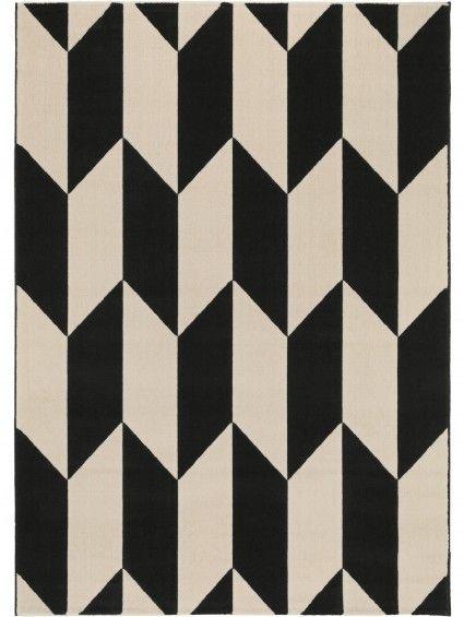 Teppich Dessert Schwarz/Weiß #benuta #teppich #chevron #interior #rug