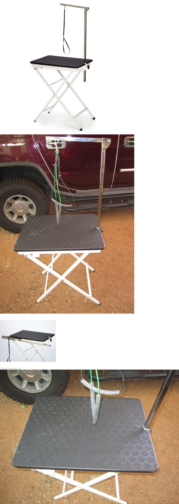 Grooming tables 146241 dog pet portable folding show home mobile grooming table set adjustable