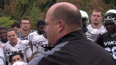 WATCH: Portland State Vikings football team celebrates Bruce Barnum's new contract #BarnyBall