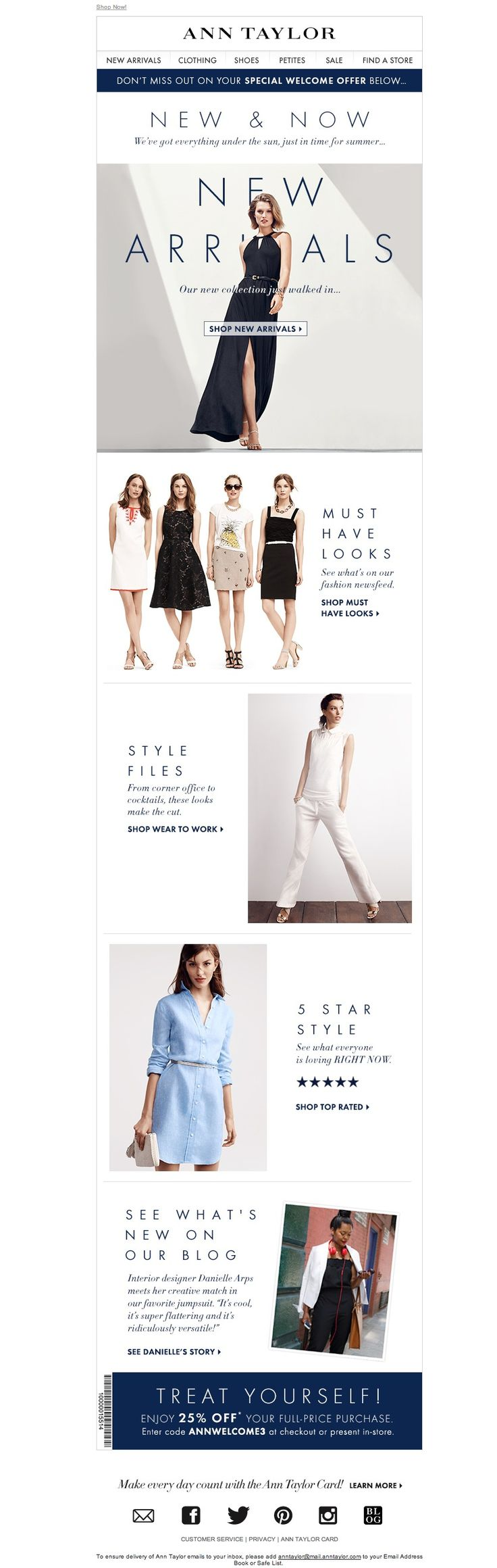 #newsletter Ann Taylor 07.2014 See What's New & Now (Plus, A Special Offer!)