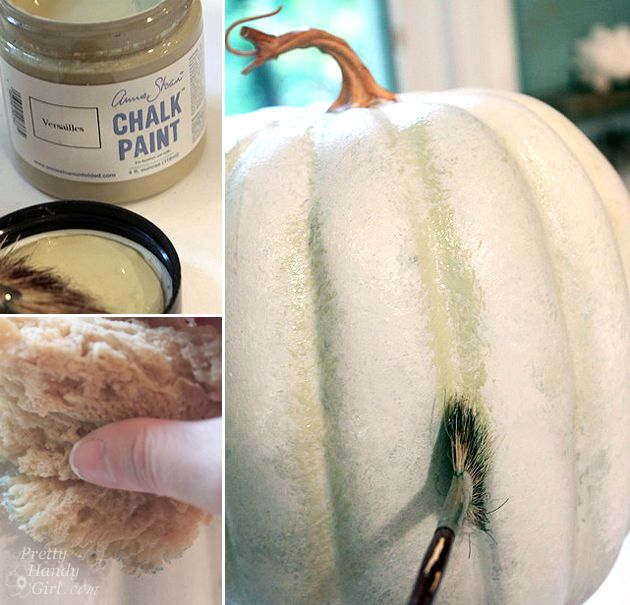 How to Fake a Fake Pumpkin (Faux Painting Tutorial) - Pretty Handy Girl