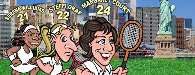 En el US Open 2015, Serena Williams tiene la oportunidad de completar su Grand Slam de año calendario, empatar a Steffi Graf con 22 títulos de torneos mayores y quedar a sólo dos del registro de todos los tiempos en manos de la australiano Margaret Court con 24.