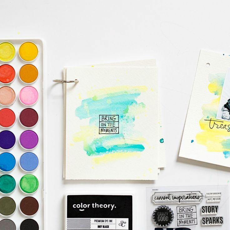 Stephanie Makes: DIY Watercolor Mini Album