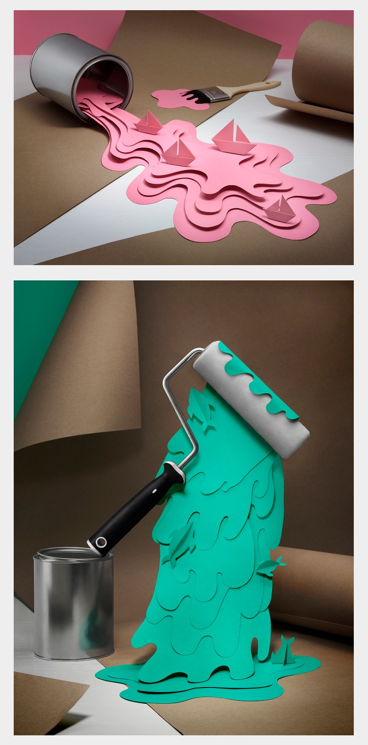 I do like the idea of the cut paper. hmmm Paint & Splash by Fideli Sundqvist
